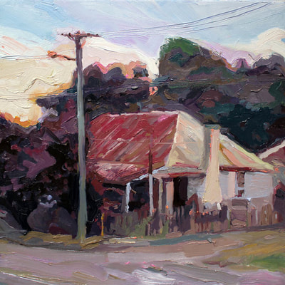 """Berrima"", oil on board, 40X40cm"